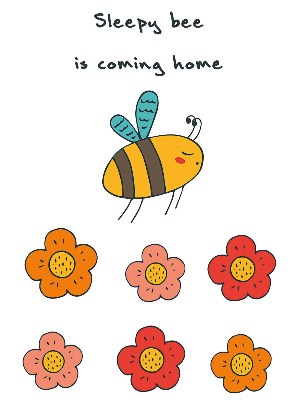 """Блокнот для записей """"Sleepy bee is coming home"""" (А6)"""