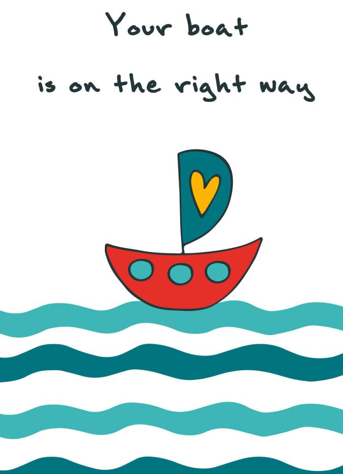 "Блокнот для записей ""Your boat is on the right way"" (А6)"