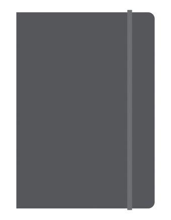 Тетрадь общая на резинке А5, ELEMENTS, 120 л., клетка (Черный)