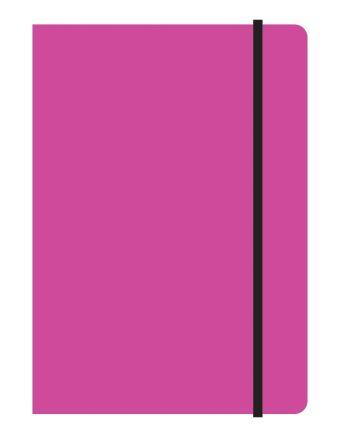 Тетрадь общая на резинке А5, STUDY UP, 120 л., клетка (Розовый)