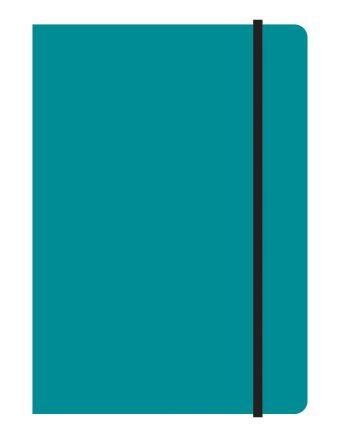 Тетрадь общая на резинке А5, STUDY UP, 120 л., клетка (Бирюзовый)
