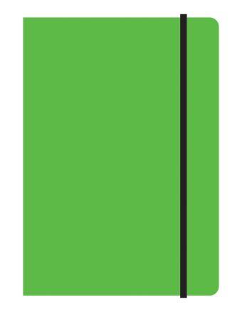 Тетрадь общая на резинке А5, STUDY UP, 120 л., клетка (Салатовый)