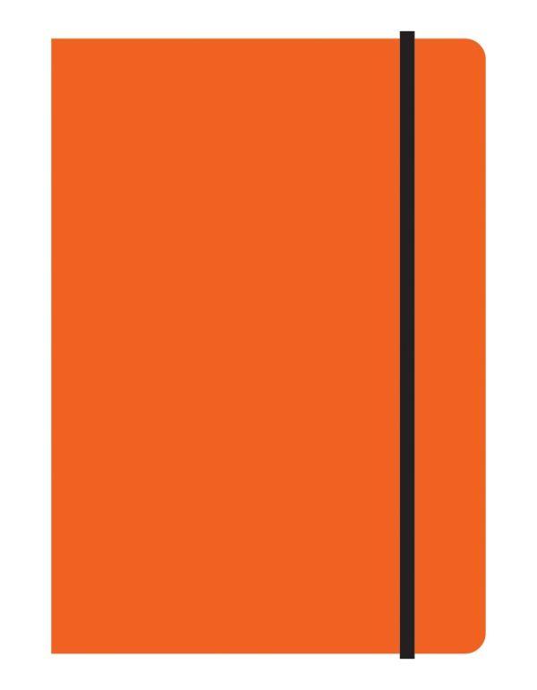 Тетрадь общая на резинке А5, STUDY UP, 120 л., клетка (Оранжевый)