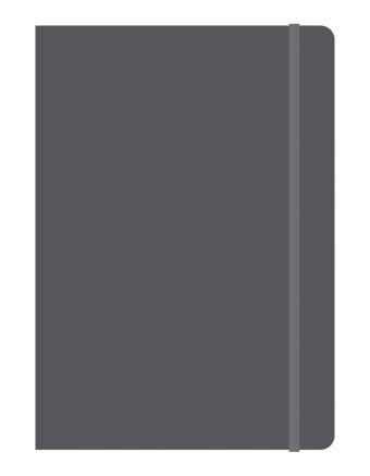 Тетрадь общая на резинке В5, ELEMENTS, 120 л., клетка (Черный)