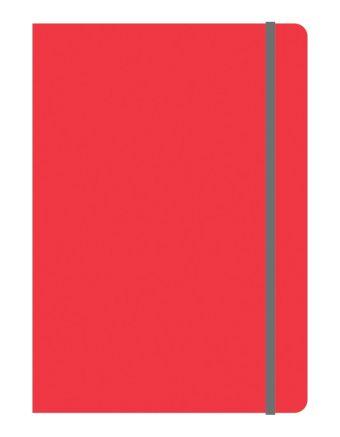Тетрадь общая на резинке В5, ELEMENTS, 120 л., клетка (Красный)