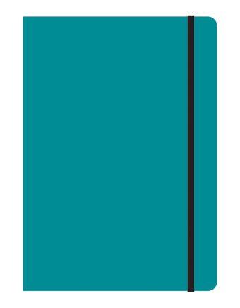 Тетрадь общая на резинке В5, STUDY UP, 120 л., клетка (Бирюзовый)