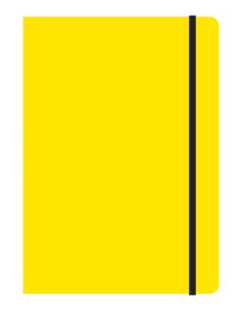 Тетрадь общая на резинке В5, STUDY UP, 120 л., клетка (Желтый)