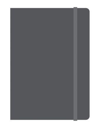 Тетрадь общая на резинке А6, ELEMENTS, 120 л., клетка (Черный)