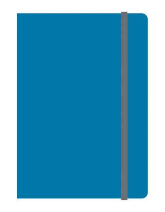 Тетрадь общая на резинке А6, ELEMENTS, 120 л., клетка (Синий)