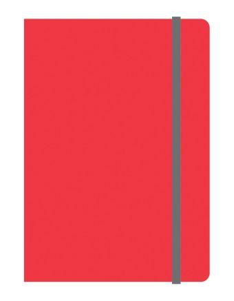 Тетрадь общая на резинке А6, ELEMENTS, 120 л., клетка (Красный)