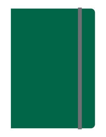 Тетрадь общая на резинке А6, ELEMENTS, 120 л., клетка (Зеленый)