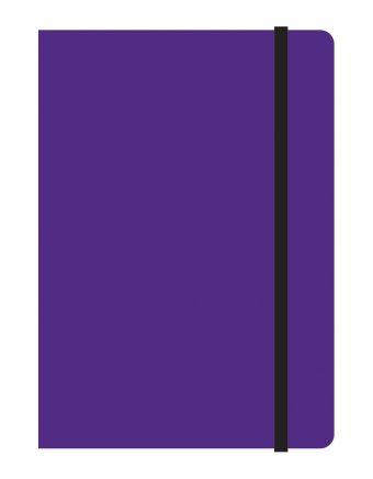 Тетрадь общая на резинке А6, STUDY UP, 120 л., клетка (Фиолетовый)