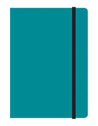 Тетрадь общая на резинке А6, STUDY UP, 120 л., клетка (Бирюзовый)