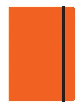 Тетрадь общая на резинке А6, STUDY UP, 120 л., клетка (Оранжевый)