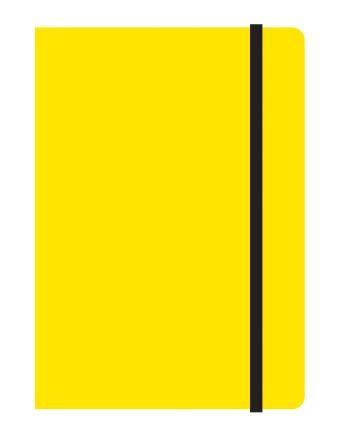 Тетрадь общая на резинке А6, STUDY UP, 120 л., клетка (Желтый)