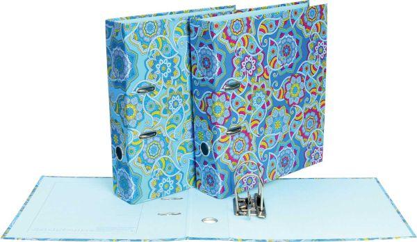 Папка–регистратор для хранения документов 70 мм ламинированная ENIGMA (Голубой)