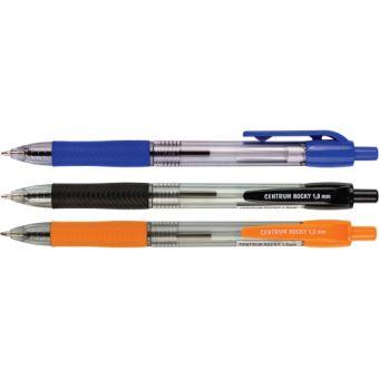 Ручка шариковая ROCKY автоматическая  черные чернила 1,0  мм,эргономич.зона