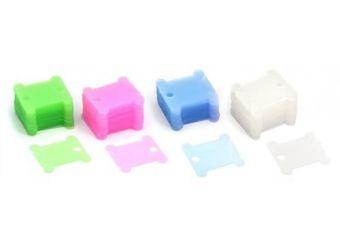 Аксессуары для рукоделия . пластиковые 50 шт. (зеленый+голубой+розовый+белый) (009-Ш)