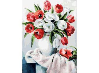 Живопись на холсте 30*40 см. Красные и белые (070-AS)