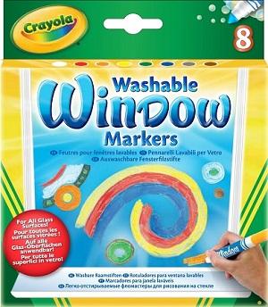 8 смываемых маркеров для рисования на стекле