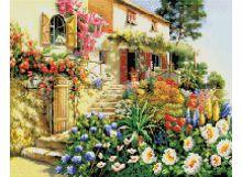 Мозаика на подрамнике. Итальянский дворик (187-ST-S)