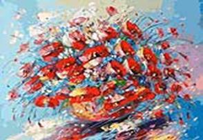 Живопись на холсте 40*50 см. Цветочная палитра лета (153-AB)