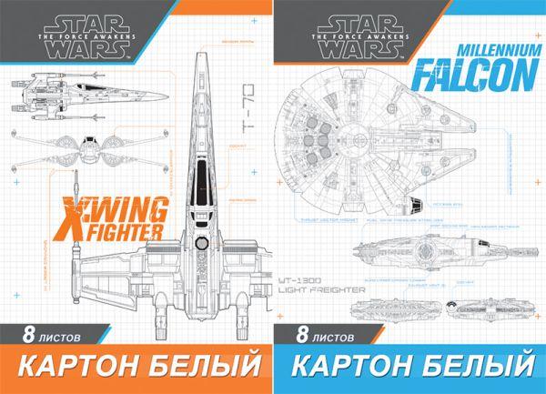 Карт бел д/дет тв  8л Папка 200*290 STW62/2-EAC Star Wars