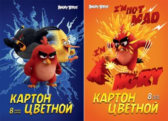 Карт цв д/дет тв  8цв  8л(2 мет) Папка 200*290 AB19/2-EAC Angry Birds Movie