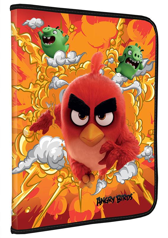 ABDB-US1-CPBFL Папка на молнии. Для тетрадей, формат А5.. Angry Birds Movie
