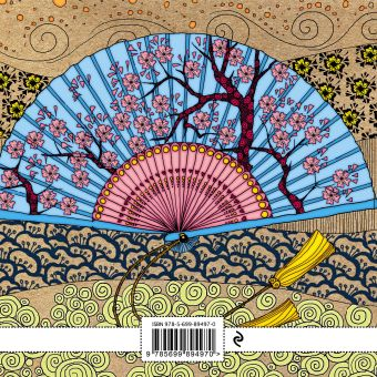 Блокнот-раскраска для взрослых: Япония. Веер Иолтуховская Е.А.
