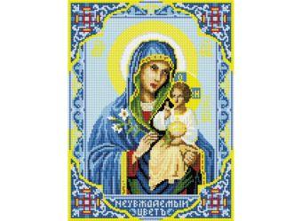 Мозаика на подрамнике. Икона Божией Матери