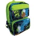Рюкзак подростковый, цвет-зеленый. Размер 45*31*18 см, 2 больших наружних кармана, уплотненная спинка, мягкие регулируемые лямки, материал полиэстер.