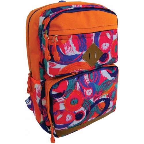 Рюкзак подростковый, цвет-оранжевый. Размер 45*31*18 см, 2 больших наружних кармана, уплотненная спинка, мягкие регулируемые лямки, материал полиэстер