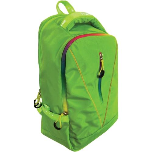 Рюкзак спортивный молодежный, цвет-зеленый. Размер 50*25*19 см, 2 отделения, отделение дл ноутбука до 14 дюймов на липучке, в наружном кармане органай