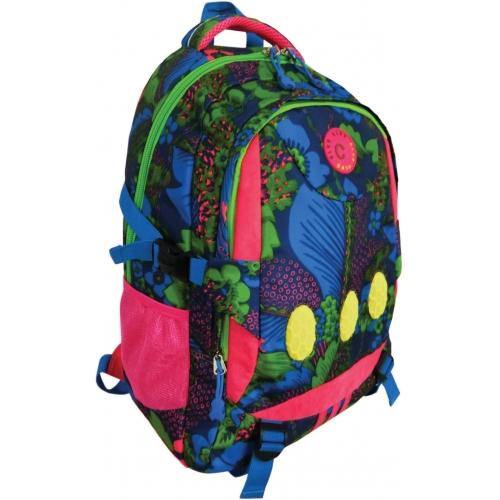 Рюкзак спортивный молодежный. Размер 45*33*14 см, 2 отделения, боковые карманы из сетки, уплотненная спинка, внутри отделений карманы для телефона и м