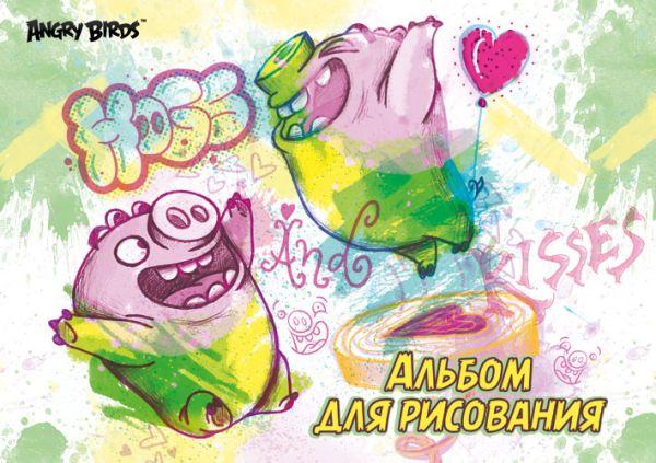 Альб д.рис 40л скр А4 AB4-EAC твин УФ Angry Birds Movie