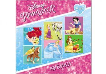 Disney. КУБИКИ ПЛАСТИКОВЫЕ. 4 шт. ПРИНЦЕССЫ-2 (Арт. К04-1513)