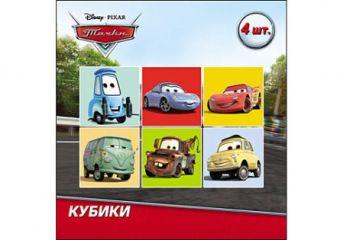 Disney. КУБИКИ ПЛАСТИКОВЫЕ. 4 шт. ТАЧКИ-2 (Арт. К04-1512)
