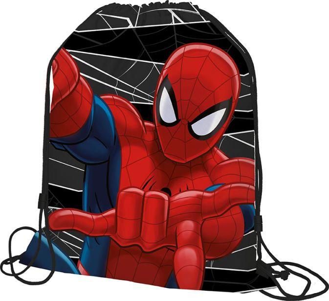 SMDB-MT1-883 Мешок для обуви. Размер: 43 х 34 х 1 см. Упак: 12/24/96.Spider-man Classic