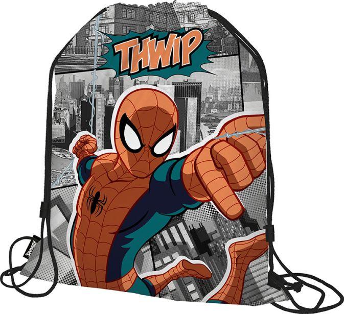 SMDB-RT2-883 Мешок для обуви. Размер: 43 х 34 х 1 см. Упак: 12/24/96.Spider-man Classic