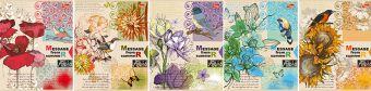 Тетр 48л скр А5 кл 7858/5-EAC тисн лен Message from summer: птицы и цветы