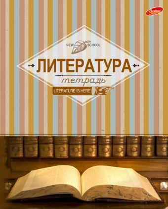 Тетр литература 48л скр А5 лин 7963-EAC 5+0 (метал) Полоски
