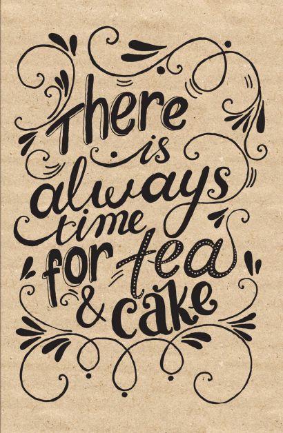 Блокнот. Время для чая и пирога (надпись) - фото 1