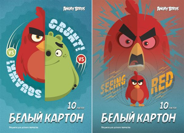 Карт бел д/дет тв 10л Папка А4 AB16/2-EAC ВД лак Angry Birds Movie