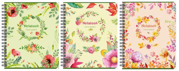 Тетр 96л Wсп А5 кл 7889/3-EAC полн УФ лак Floral Pattern (цветы и листья)