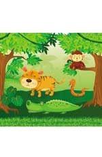 В джунглях: водораскраски-пазлы