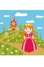 Принцесса: водораскраски-пазлы