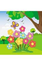 Цветы: водораскраски-пазлы