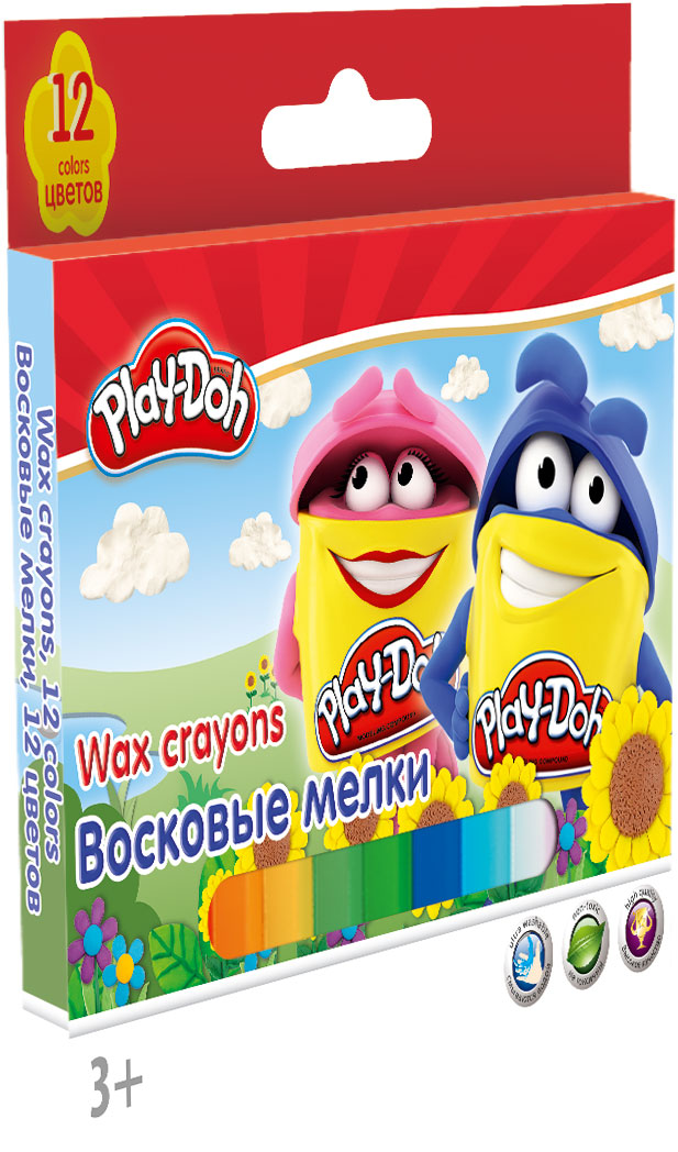 PDDB-US1-CR12 Восковые мелки. Набор 12 шт.. Play-Doh