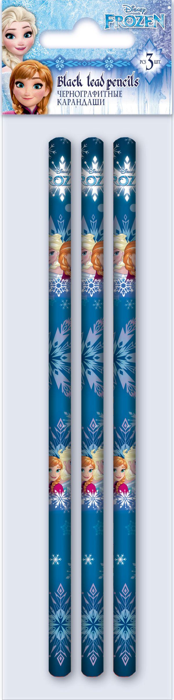 FZDB-US1-102-H3 Карандаши простые. Набор 3 шт, в ПП-пакете.. Frozen